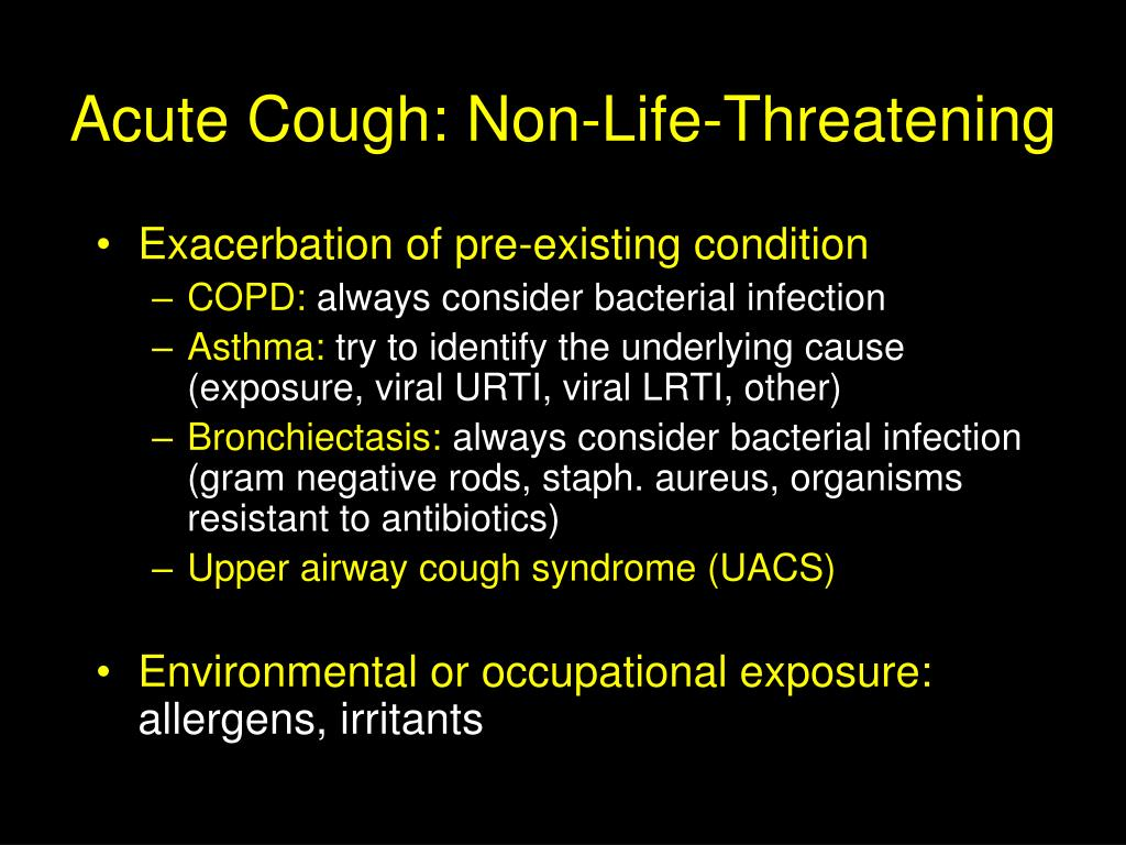 Acute Cough: Non-Life-Threatening
