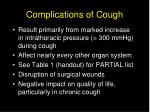 complications of cough16