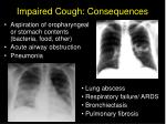 impaired cough consequences