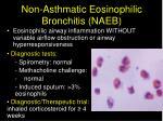 non asthmatic eosinophilic bronchitis naeb