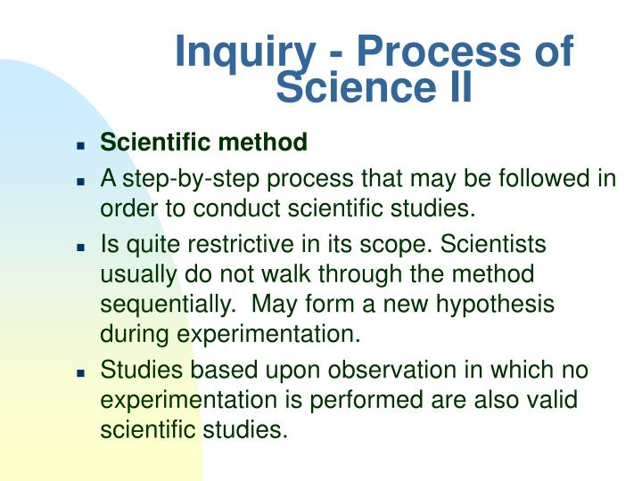 Inquiry - Process of Science II