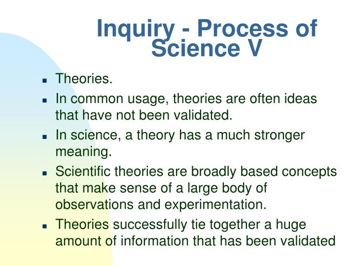 Inquiry - Process of Science V