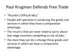 paul krugman defends free trade