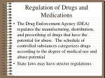 regulation of drugs and medications