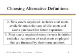 choosing alternative definitions1
