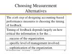 choosing measurement alternatives2