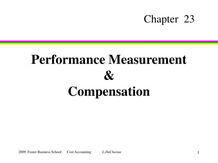 performance measurement compensation n.