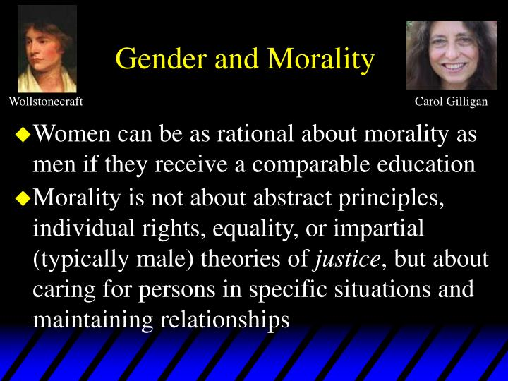 Gender and morality