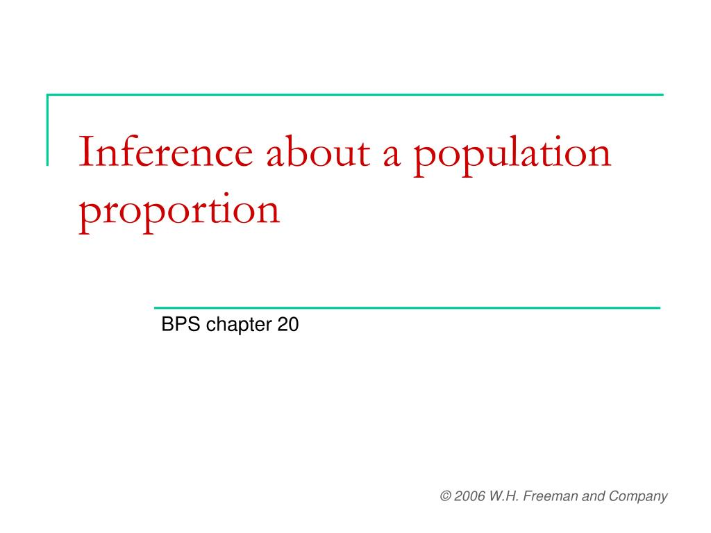 inference about a population proportion l.