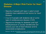 diabetes a major risk factor for heart disease