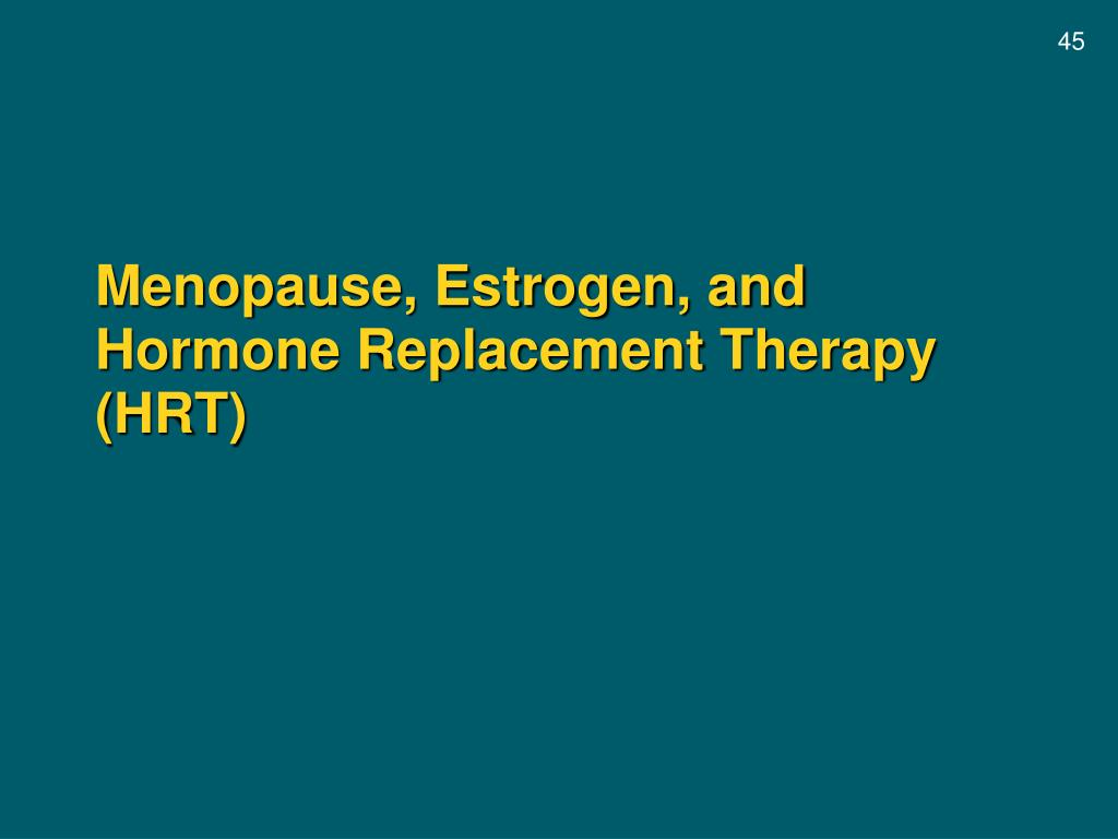 Menopause, Estrogen, and Hormone Replacement Therapy (HRT)