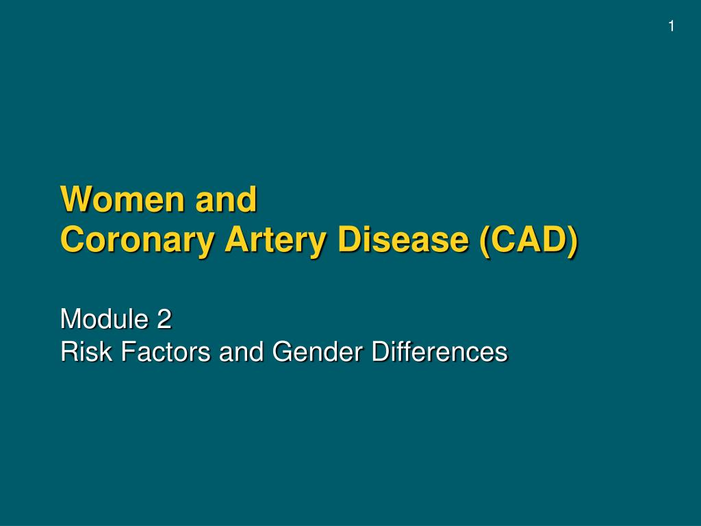 women and coronary artery disease cad l.