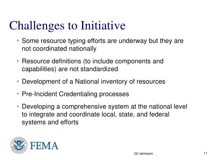 Challenges to Initiative