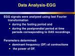 data analysis egg