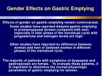 gender effects on gastric emptying