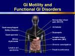 gi motility and functional gi disorders