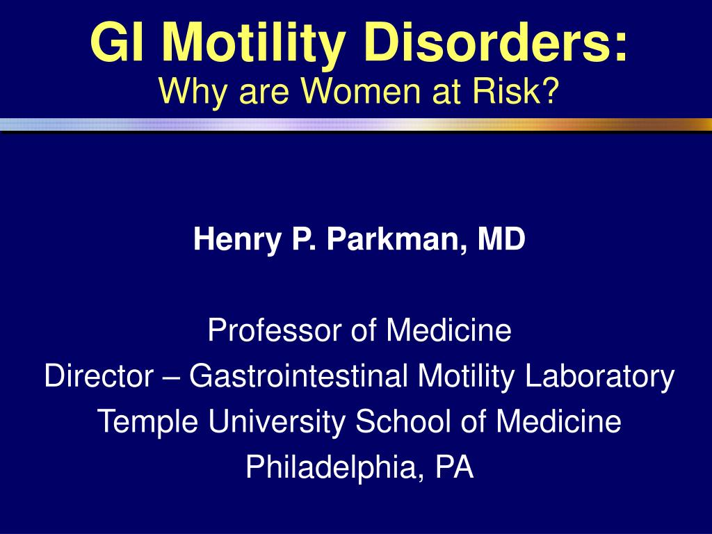 gi motility disorders why are women at risk