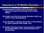 importance of gi motility disorders 1