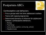 postpartum abcs