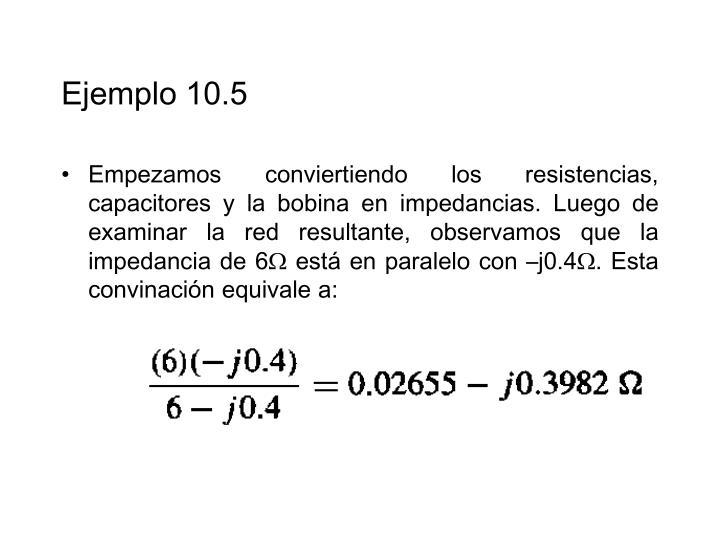Ejemplo 10.5