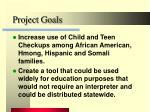 project goals8