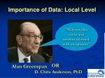 importance of data local level5