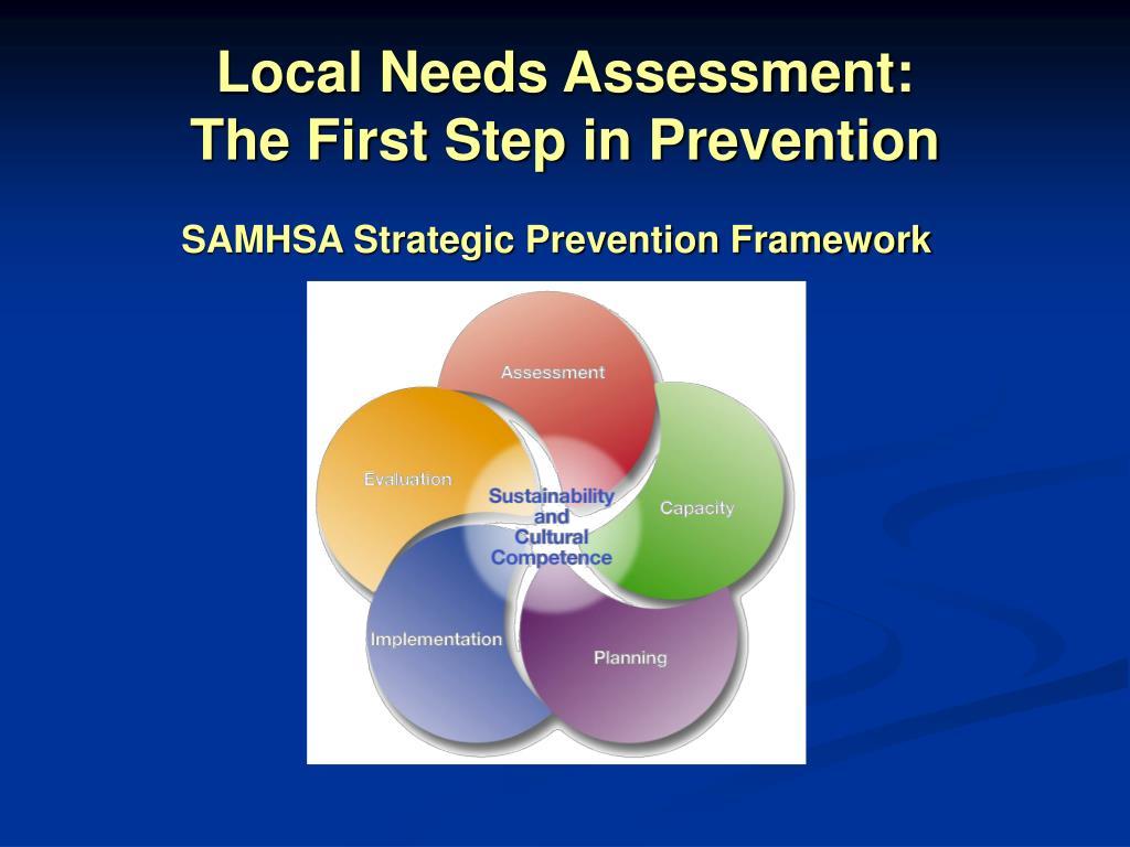 Local Needs Assessment:
