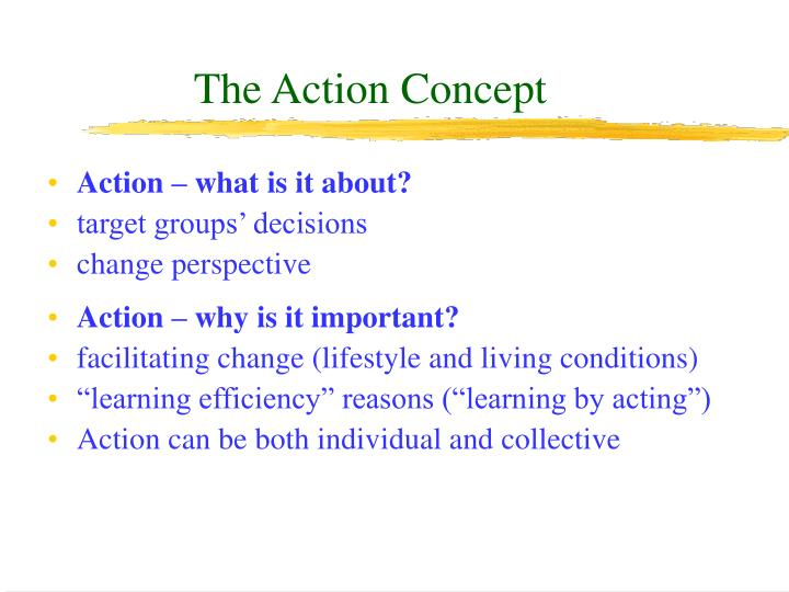 The Action Concept
