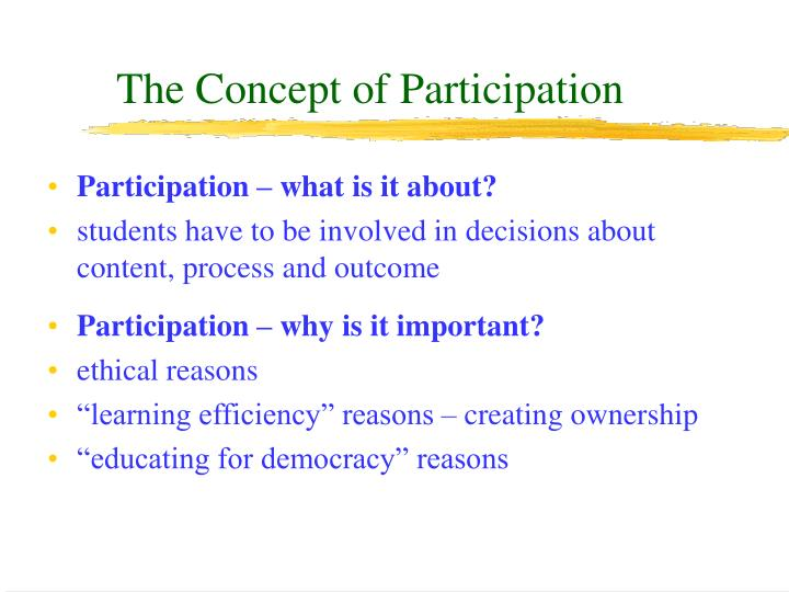 The Concept of Participation