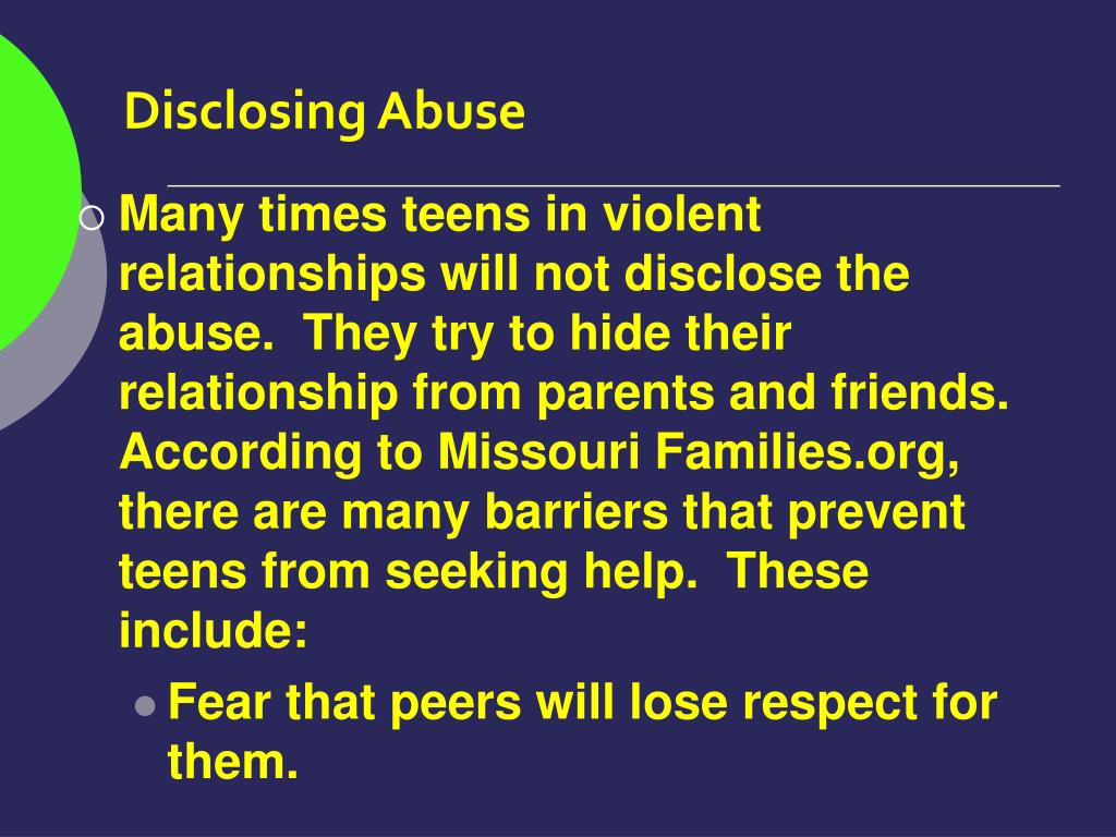 Disclosing Abuse