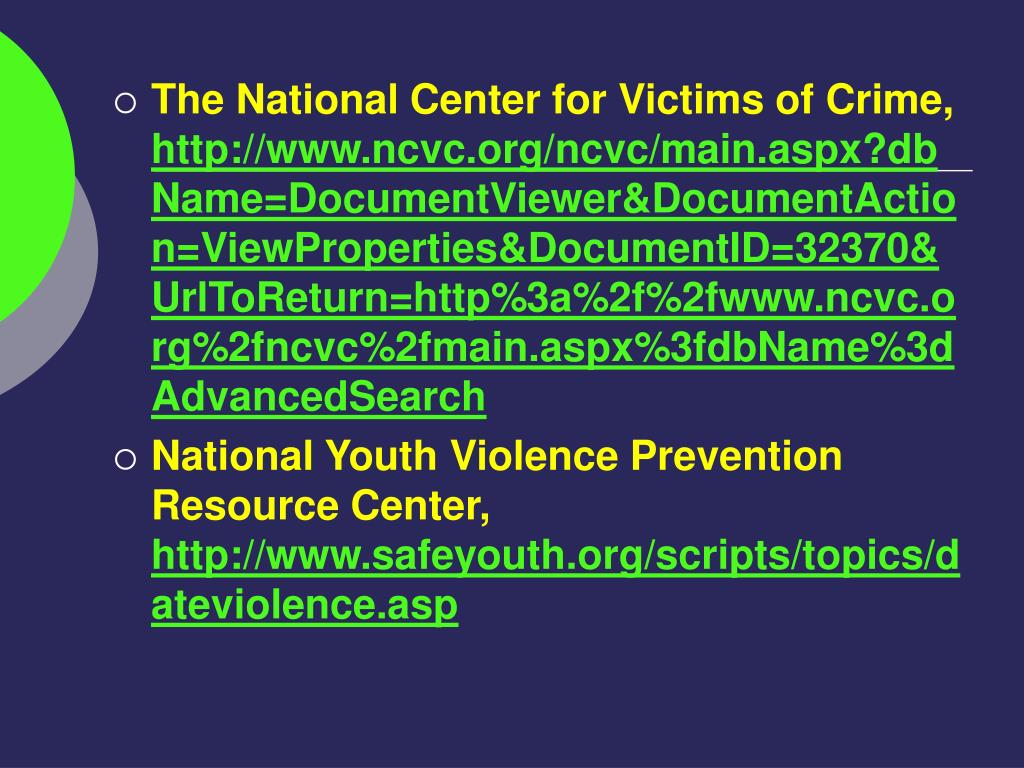 The National Center for Victims of Crime,