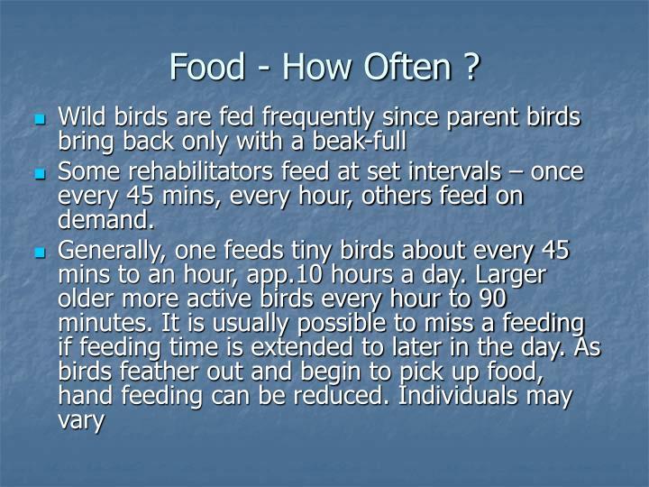 Food - How Often ?