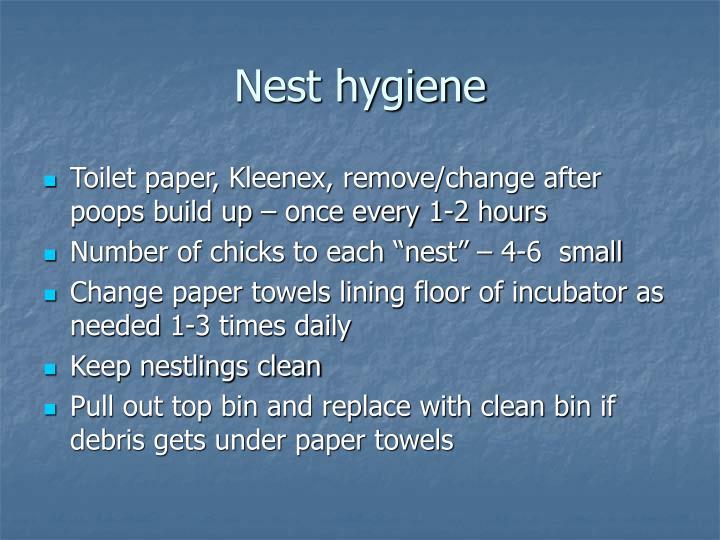 Nest hygiene