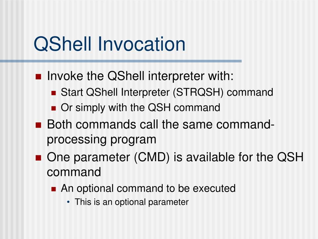 PPT - Michigan iSeries Technical Education Conference QShell and the