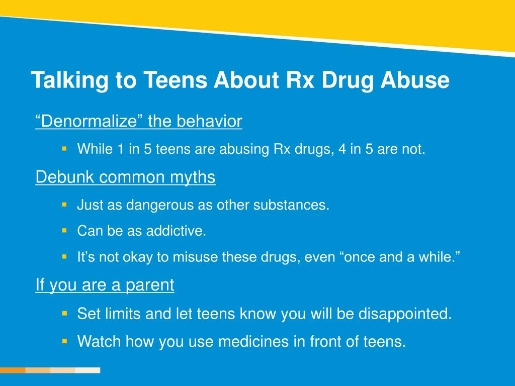 Talking to Teens About Rx Drug Abuse