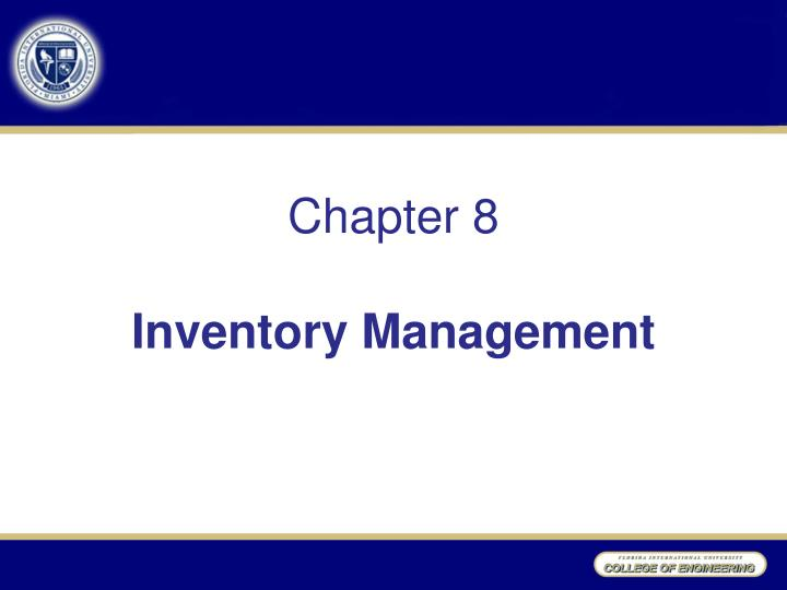 chapter 8 inventory management n.