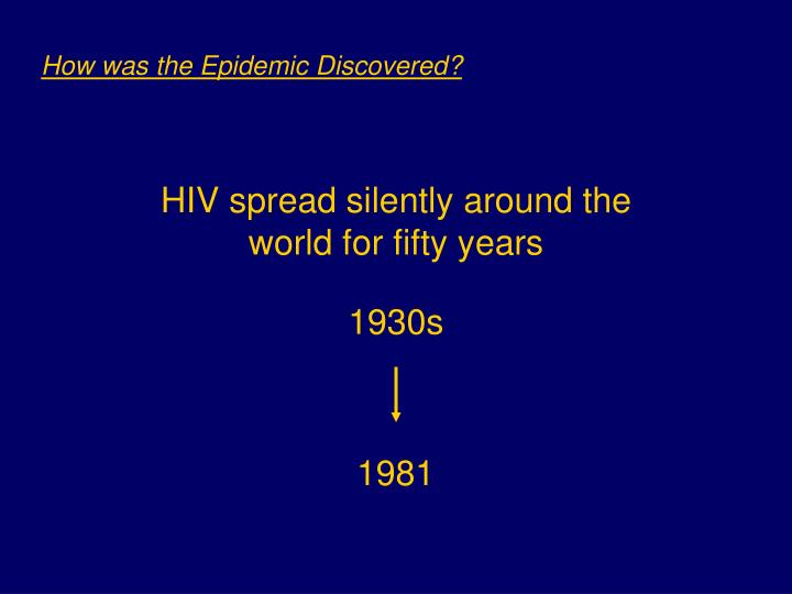How was the Epidemic Discovered?