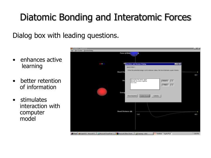 Diatomic Bonding and Interatomic Forces