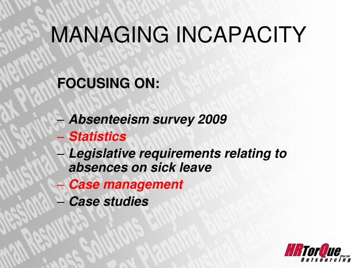 the sick leave case study