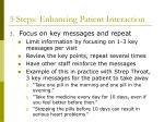 5 steps enhancing patient interaction27
