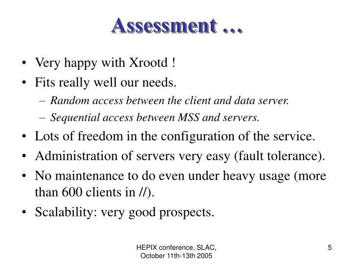 Assessment …
