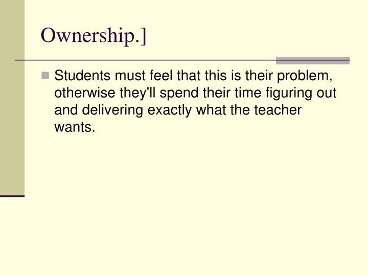 Ownership.]