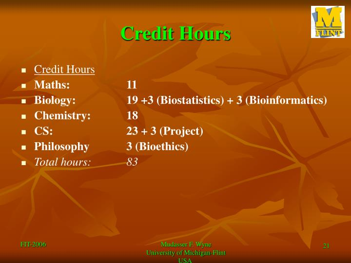 Credit Hours