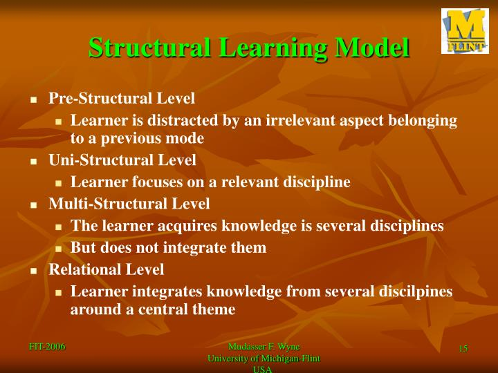 Structural Learning Model