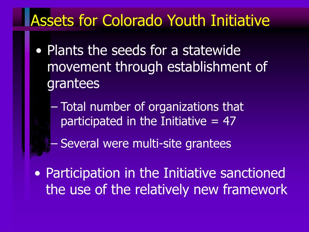 Assets for Colorado Youth Initiative