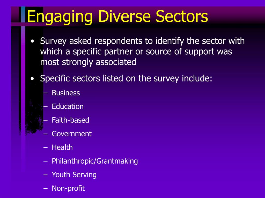 Engaging Diverse Sectors