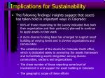 implications for sustainability
