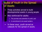 roles of youth in the spread of assets
