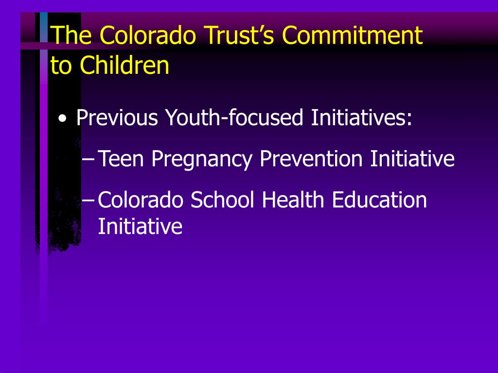 The Colorado Trust's Commitment