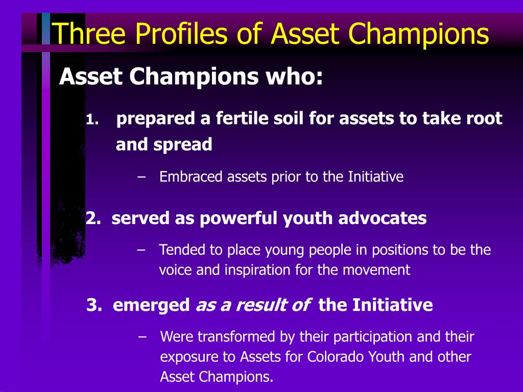 Three Profiles of Asset Champions